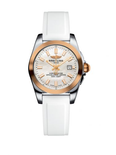 C7234812/A791/249S/A12S.1 : Breitling Galactic 29 Stainless Steel / Rose Gold / Pearl / Rubber