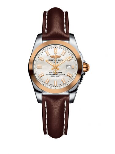 C7234812/A791/484X/A12BA.1 : Breitling Galactic 29 Stainless Steel / Rose Gold / Pearl / Calf