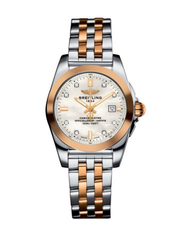 C7234812/A792/791C : Breitling Galactic 29 Stainless Steel / Rose Gold / Pearl Diamond / Bracelet