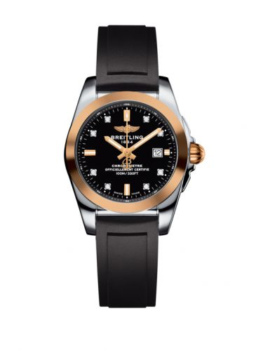 C7234812/BE86/248S/A12S.1 : Breitling Galactic 29 Stainless Steel / Rose Gold / Trophy Black Diamond / Rubber