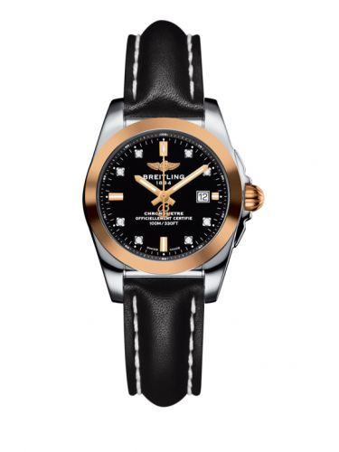 C7234812/BE86/477X/A12BA.1 : Breitling Galactic 29 Stainless Steel / Rose Gold / Trophy Black Diamond / Calf