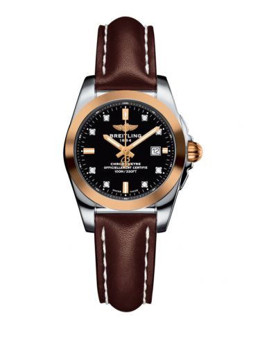 C7234812/BE86/484X/A12BA.1 : Breitling Galactic 29 Stainless Steel / Rose Gold / Trophy Black Diamond / Calf