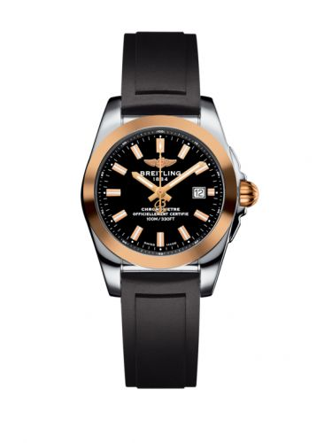 C7234812/BF32/248S/A12S.1 : Breitling Galactic 29 Stainless Steel / Rose Gold / Trophy Black / Rubber