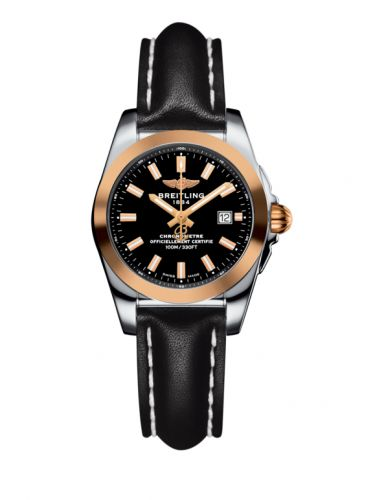 Breitling C7234812/BF32/477X/A12BA.1 : Galactic 29 Stainless Steel / Rose Gold / Trophy Black / Calf