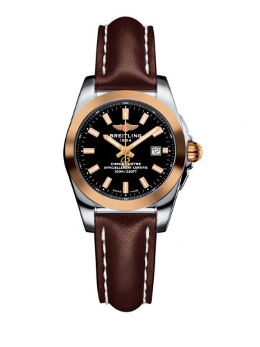C7234812/BF32/484X/A12BA.1 : Breitling Galactic 29 Stainless Steel / Rose Gold / Trophy Black / Calf