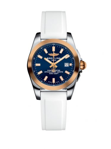 C7234812/C950/249S/A12S.1 : Breitling Galactic 29 Stainless Steel / Rose Gold / Horizon Blue / Rubber