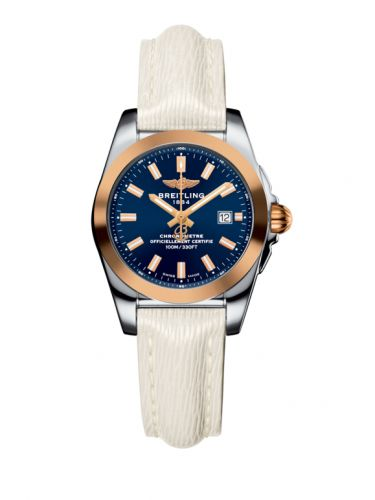 C7234812/C950/274X/A12BA.1 : Breitling Galactic 29 Stainless Steel / Rose Gold / Horizon Blue / Sahara