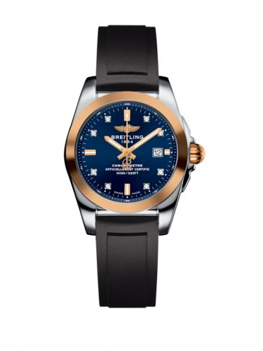 C7234812/C964/248S/A12S.1 : Breitling Galactic 29 Stainless Steel / Rose Gold / Horizon Blue Diamond / Rubber