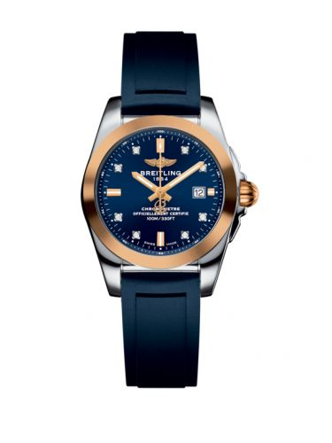 C7234812/C964/287S/A12S.1 : Breitling Galactic 29 Stainless Steel / Rose Gold / Horizon Blue Diamond / Rubber