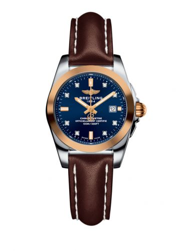 C7234812/C964/484X/A12BA.1 : Breitling Galactic 29 Stainless Steel / Rose Gold / Horizon Blue Diamond / Calf