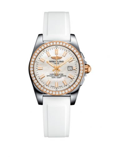 C7234853/A791/249S/A12S.1 : Breitling Galactic 29 Stainless Steel / Rose Gold / Diamond / Pearl / Rubber