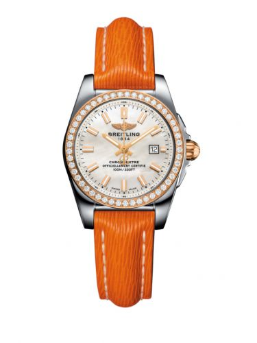 C7234853/A791/270X/A12BA.1 : Breitling Galactic 29 Stainless Steel / Rose Gold / Diamond / Pearl / Sahara