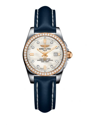 C7234853/A792/486X/A12BA.1 : Breitling Galactic 29 Stainless Steel / Rose Gold / Diamond / Pearl Diamond / Calf