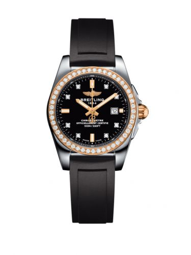 C7234853/BE86/248S/A12S.1 : Breitling Galactic 29 Stainless Steel / Rose Gold / Diamond / Trophy Black Diamond / Rubber
