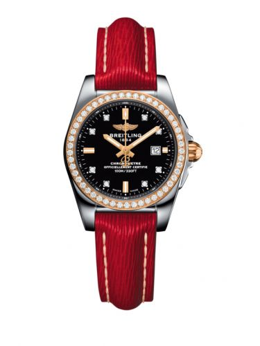 C7234853/BE86/273X/A12BA.1 : Breitling Galactic 29 Stainless Steel / Rose Gold / Diamond / Trophy Black Diamond / Sahara