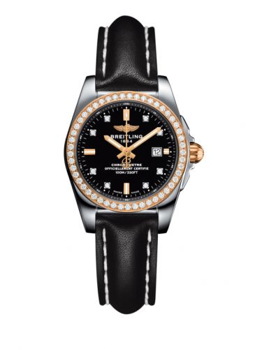C7234853/BE86/477X/A12BA.1 : Breitling Galactic 29 Stainless Steel / Rose Gold / Diamond / Trophy Black Diamond / Calf