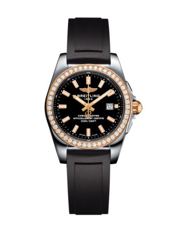 C7234853/BF32/248S/A12S.1 : Breitling Galactic 29 Stainless Steel / Rose Gold / Diamond / Trophy Black / Rubber