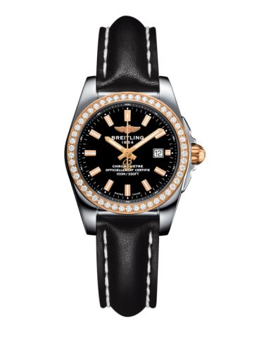 C7234853/BF32/477X/A12BA.1 : Breitling Galactic 29 Stainless Steel / Rose Gold / Diamond / Trophy Black / Calf