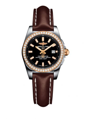 C7234853/BF32/484X/A12BA.1 : Breitling Galactic 29 Stainless Steel / Rose Gold / Diamond / Trophy Black / Calf