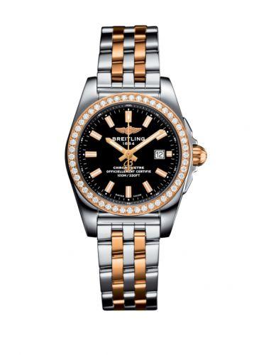 C7234853/BF32/791C : Breitling Galactic 29 Stainless Steel / Rose Gold / Diamond / Trophy Black / Bracelet
