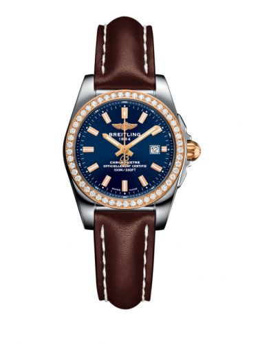 C7234853/C950/484X/A12BA.1 : Breitling Galactic 29 Stainless Steel / Rose Gold / Diamond / Horizon Blue / Calf