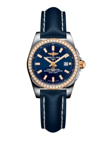 C7234853/C950/486X/A12BA.1 : Breitling Galactic 29 Stainless Steel / Rose Gold / Diamond / Horizon Blue / Calf