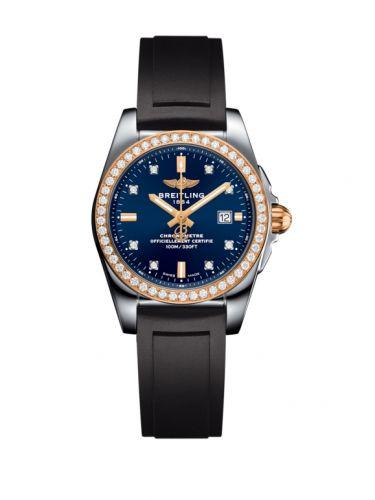 C7234853/C964/248S/A12S.1 : Breitling Galactic 29 Stainless Steel / Rose Gold / Diamond / Horizon Blue Diamond / Rubber
