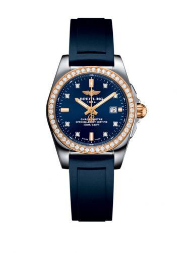 C7234853/C964/287S/A12S.1 : Breitling Galactic 29 Stainless Steel / Rose Gold / Diamond / Horizon Blue Diamond / Rubber