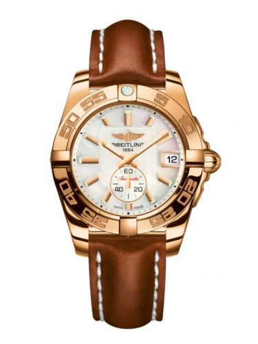 Breitling H3733012.A724.412X : Galactic 36 Automatic Rose Gold / Pearl / Calf
