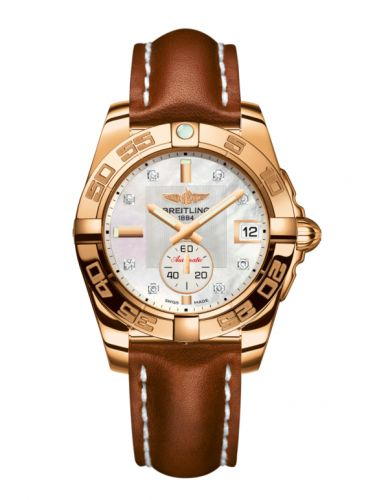 Breitling H3733012.A725.412X : Galactic 36 Automatic Rose Gold / Pearl Diamond / Calf