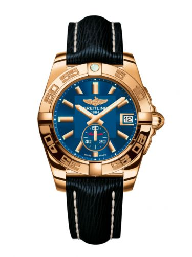 Breitling H3733012.C831.215X : Galactic 36 Automatic Rose Gold / Gun Blue / Sahara