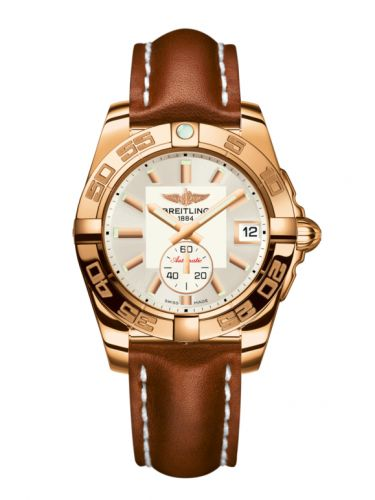 Breitling H3733012.G714.412X : Galactic 36 Automatic Rose Gold / Stratus Silver / Calf