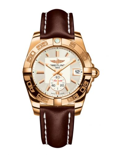 Breitling H3733012.G714.416X : Galactic 36 Automatic Rose Gold / Stratus Silver / Calf