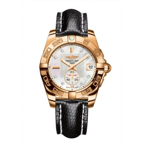 Breitling H3733012.A725.120Z : Galactic 36 Automatic Rose Gold / Pearl Diamond /