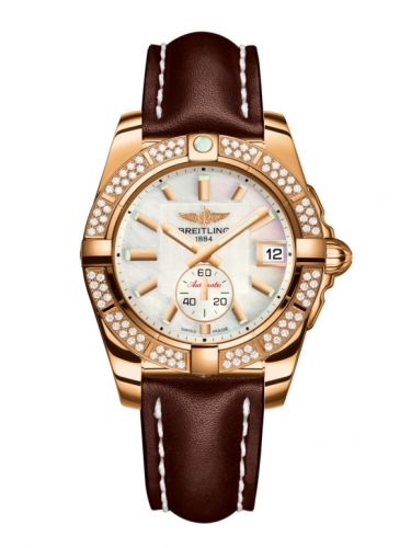 Breitling H3733053.A724.416X : Galactic 36 Automatic Rose Gold / Diamond / Pearl / Calf