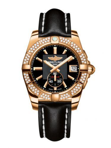 Breitling H3733053.BA54.414X : Galactic 36 Automatic Rose Gold / Diamond / Volcano Black / Calf