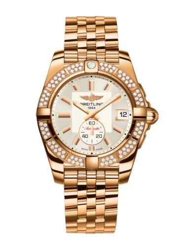 Breitling H3733053.G714.376H : Galactic 36 Automatic Rose Gold / Diamond / Stratus Silver / Bracelet