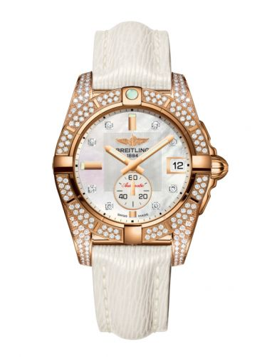 Breitling H3733063.A725.236X : Galactic 36 Automatic Rose Gold / Diamondworks / Pearl Diamond / Sahara