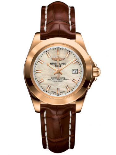 Breitling H7133012.A802.778P : Galactic 32 Sleek Edition Rose Gold / Pearl / Croco