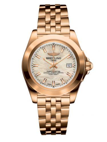 Breitling H7133012.A802.792H : Galactic 32 Sleek Edition Rose Gold / Pearl / Bracelet