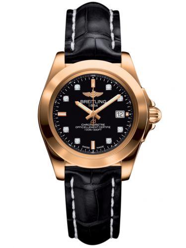Breitling H7133012.BF64.777P : Galactic 32 Sleek Edition Rose Gold / Trophy Black Diamond / Croco