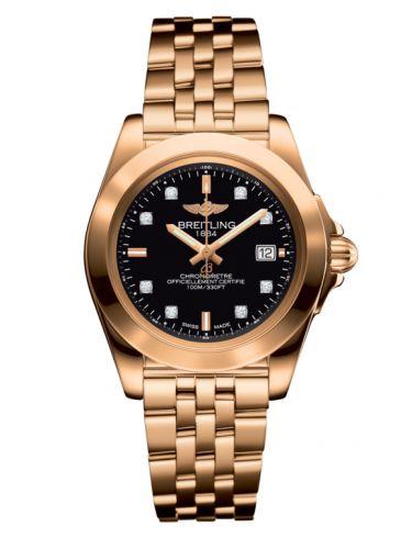 Breitling H7133012.BF64.792H : Galactic 32 Sleek Edition Rose Gold / Trophy Black Diamond / Bracelet