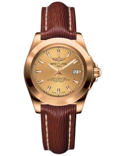 Breitling H7133012.H549.211X : Galactic 32 Sleek Edition Rose Gold / Golden Sun / Sahara