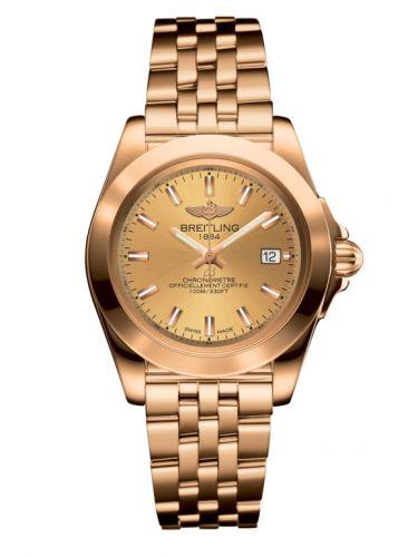 Breitling H7133012.H549.792H : Galactic 32 Sleek Edition Rose Gold / Golden Sun / Bracelet