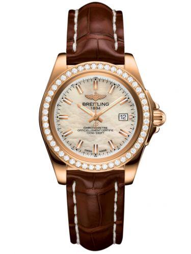 Breitling H7133053.A802.778P : Galactic 32 Sleek Edition Rose Gold / Diamond / Pearl / Croco