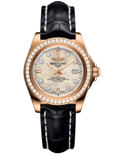 Breitling H7133053.A803.777P : Galactic 32 Sleek Edition Rose Gold / Diamond / Pearl Diamond / Croco
