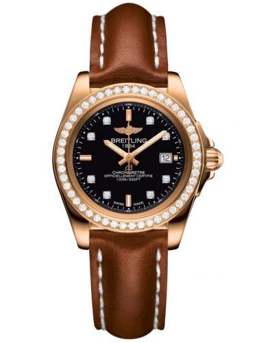Breitling H7133053.BF64.406X : Galactic 32 Sleek Edition Rose Gold / Diamond / Trophy Black Diamond / Calf