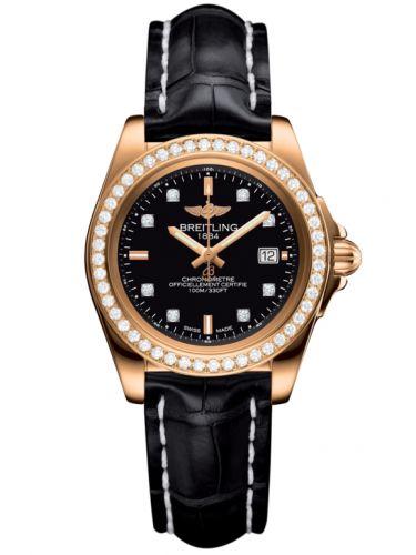 Breitling H7133053.BF64.777P : Galactic 32 Sleek Edition Rose Gold / Diamond / Trophy Black Diamond / Croco