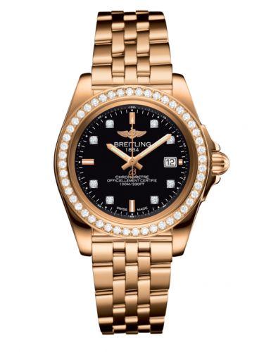 Breitling H7133053.BF64.792H : Galactic 32 Sleek Edition Rose Gold / Diamond / Trophy Black Diamond / Bracelet