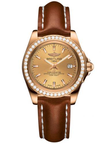Breitling H7133053.H549.406X : Galactic 32 Sleek Edition Rose Gold / Diamond / Golden Sun / Calf